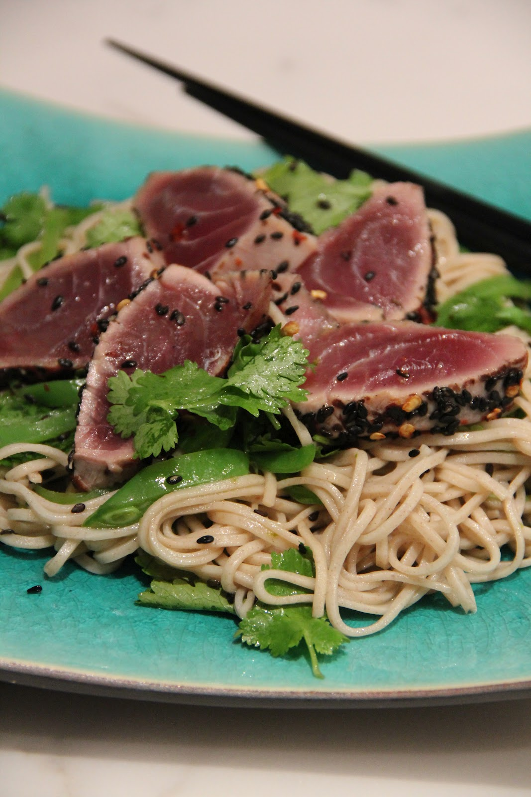 ... noodles peanut sesame noodles sesame seared tuna with soy lime noodles